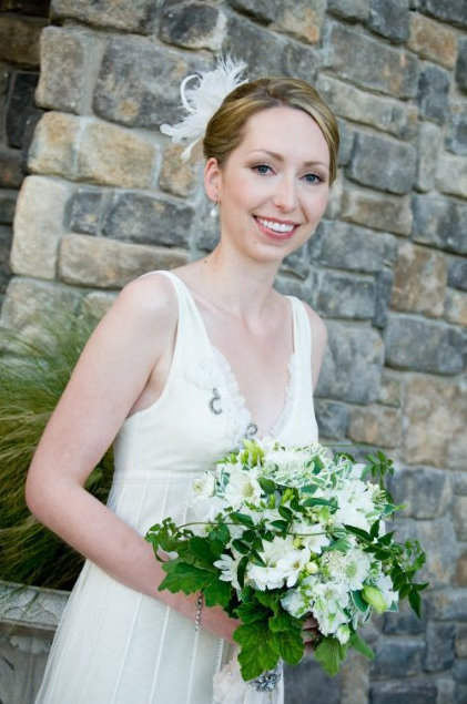 Flowers & Decor, white, green, Bride Bouquets, Flowers, Bouquet, Gown, Wedding, Seaside, Bridal attire