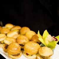 Reception, Flowers & Decor, Food, City, Wedding, San, Francisco, Plum, Sophisticated, Burgers
