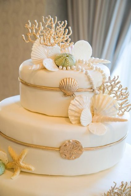 Reception, Flowers & Decor, white, green, Wedding, Seaside, Wedding cake, Cheesecake