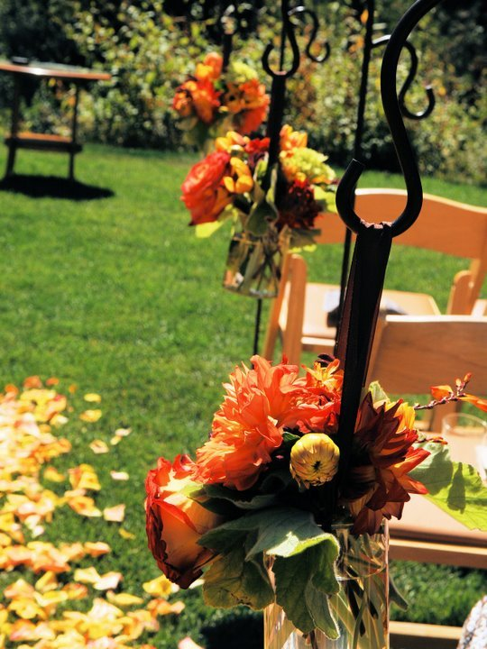 Flowers & Decor, Ceremony Flowers, Aisle Decor, Rustic Wedding Flowers & Decor, Summer Wedding Flowers & Decor