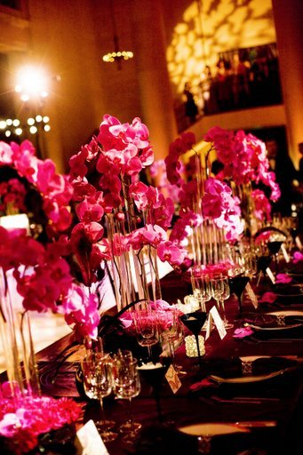 Reception, Flowers & Decor, Decor, Flowers, City, Wedding, San, Francisco, Plum, Floral arrangements, Sophisticated