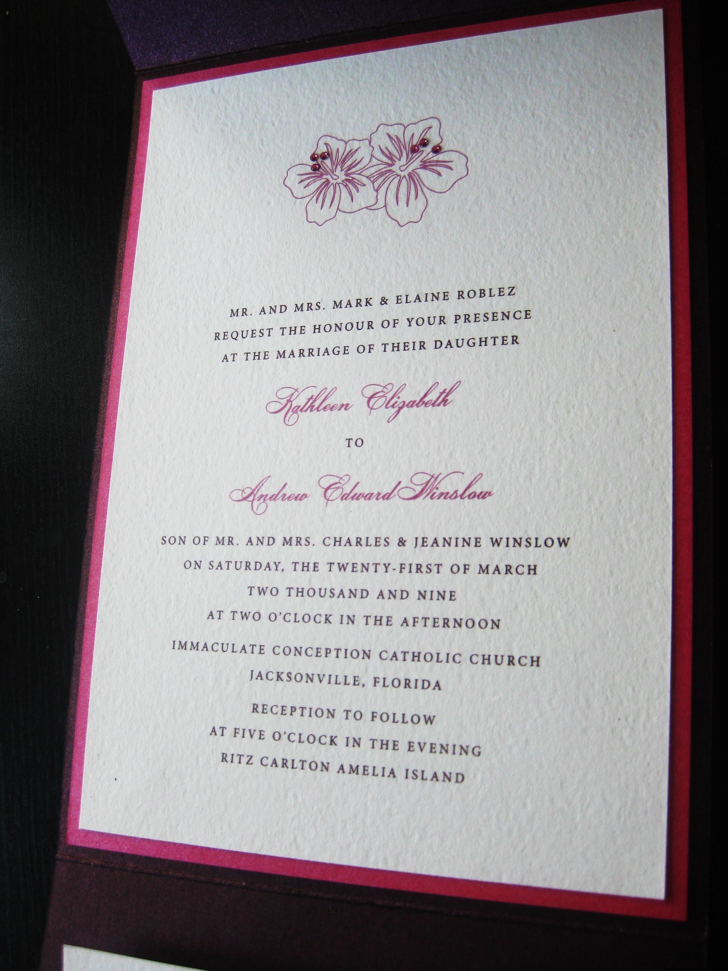 Stationery, pink, purple, invitation, Invitations