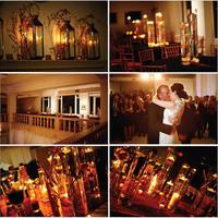 Flowers & Decor, orange, Centerpieces, Candles, Flowers