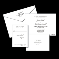 Stationery, Invitations, Postcard, Elegant, Rsvp, The, Traditional, Letterpress, Save, Date, Invitations by ajalon