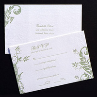 Stationery, Invitations, Reply Cards, Wedding, Postcard, Rsvp, The, Letterpress, Save, Date, Invitations by ajalon
