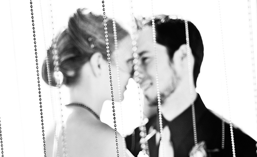 white, black, Bride, Groom, Portrait, And, Red lantern photography
