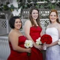 Bridesmaids, Bridesmaids Dresses, Fashion, white, red, Roses, And