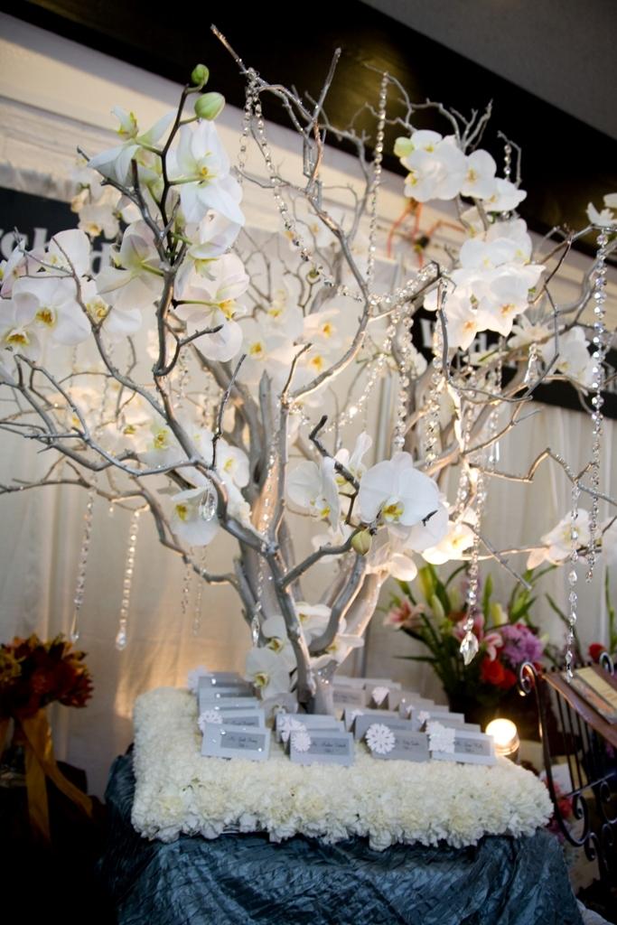Eightfoot tall escort cardreception display custom crystal for Orchid decor