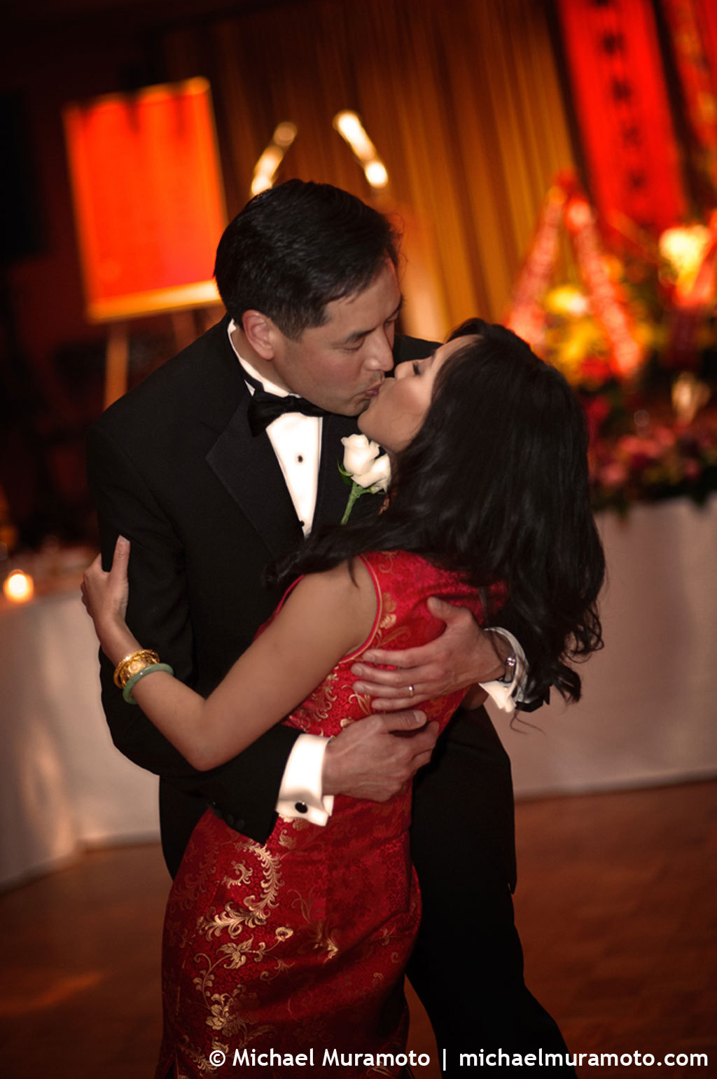 red, gold, Bride, Groom, First dance, San, Francisco, Michael muramoto photography