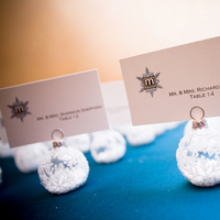 Reception, Flowers & Decor, Stationery, white, blue, black, silver, Winter, Place Cards, Wedding, Custom, Teal, Placecards, Ice, Logo, Event, Turquoise, Snowflake, Ornaments