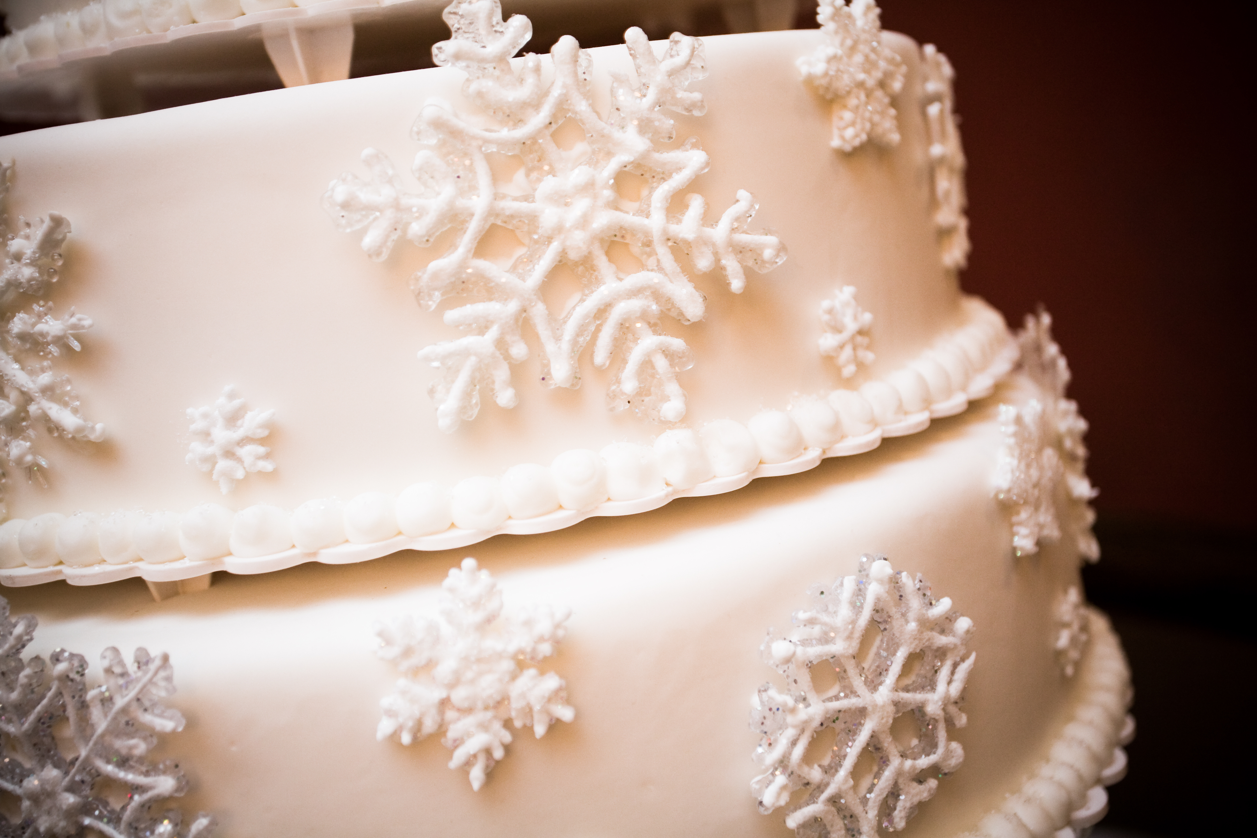 Reception, Flowers & Decor, Cakes, cake, Winter, Wedding, Snowflake, Wonderland