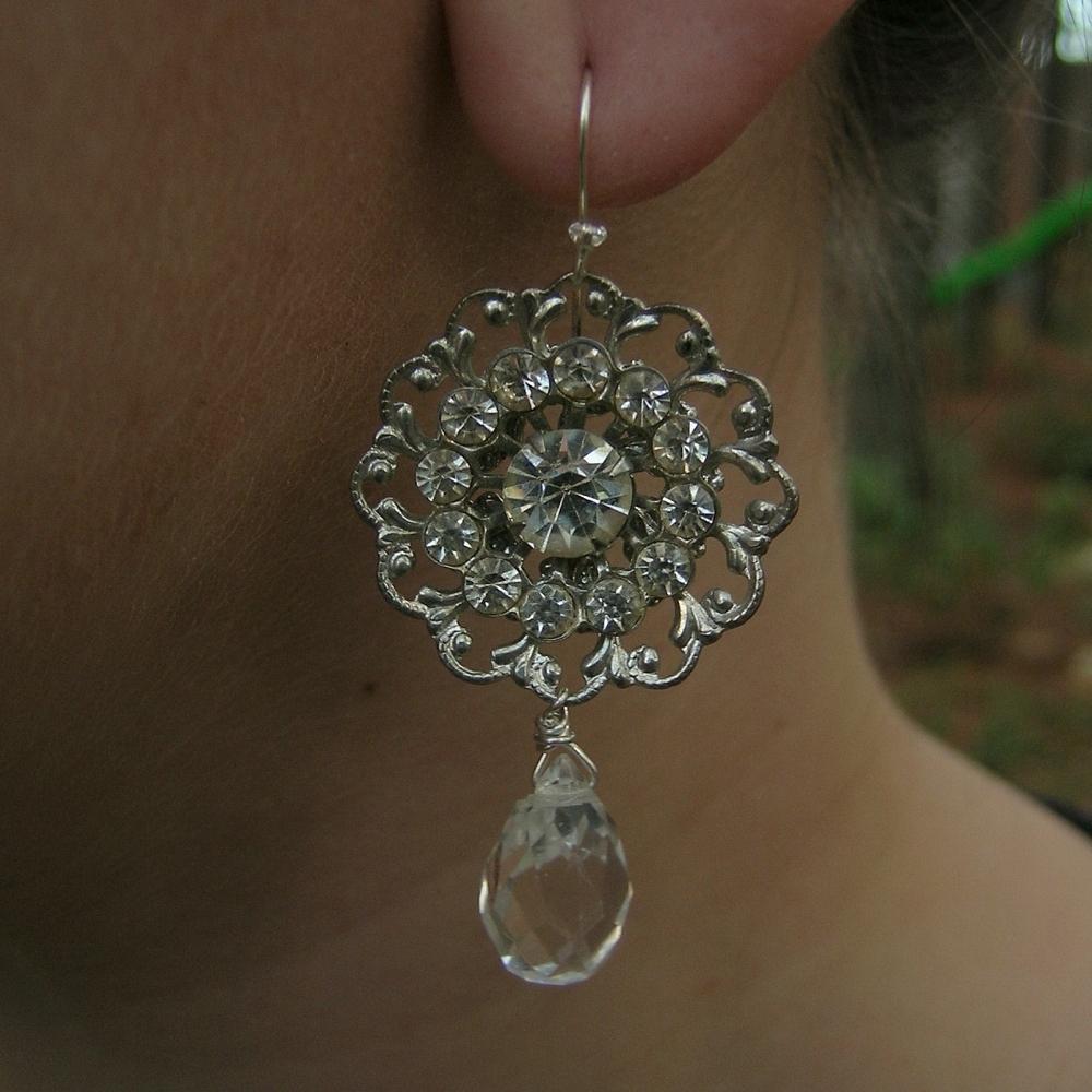 Vintage, Rhinestone, Crystals, Belcanto bridal designs