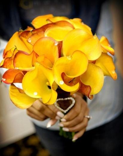 Bouquet, Calla, Mango, Celebrations event services, Bejeweled