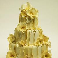 Cakes, yellow, cake, Ruffles, Cakework