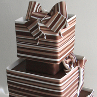 Cakes, cake, Square Wedding Cakes, Square, Stripes, Cakework