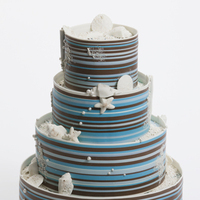 Cakes, blue, cake, Shells, Stripes, Cakework