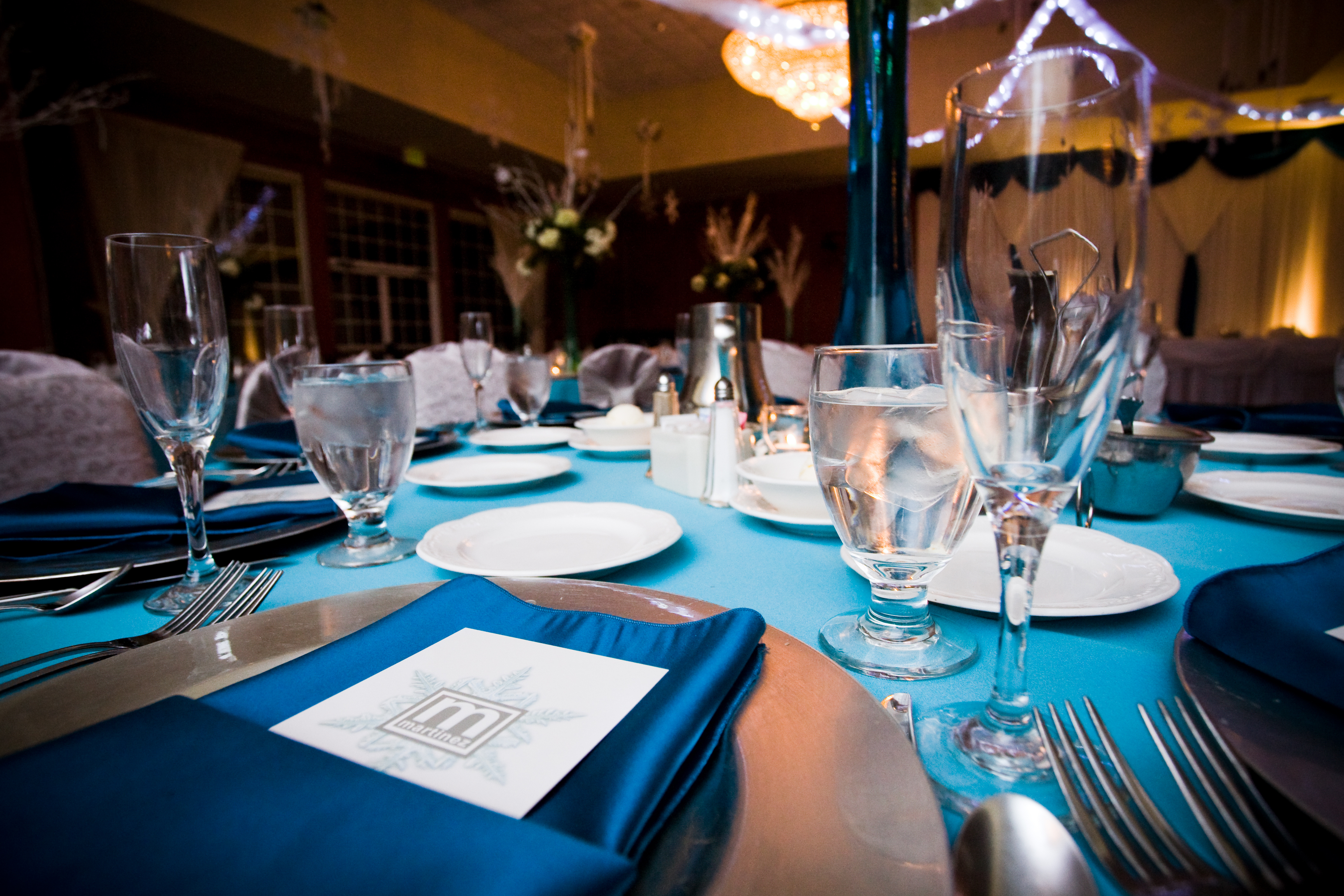 Reception, Flowers & Decor, blue, silver, Winter, Wedding, Table, Teal, Ice, Turquoise, Wonderland