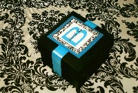 Favors & Gifts, black, Favors, Damask