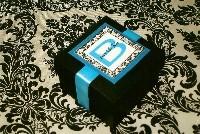 Favors & Gifts, black, Favors, Damask