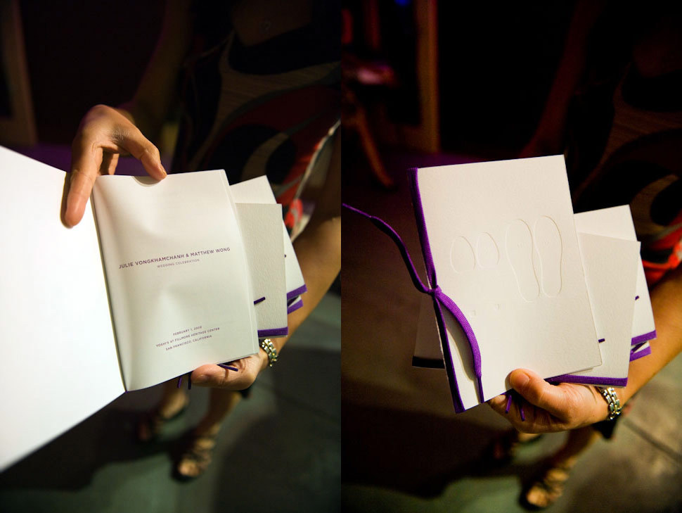 Stationery, purple, Modern, Invitations, Ceremony Programs, Programs, Wedding, Asian, Fusion