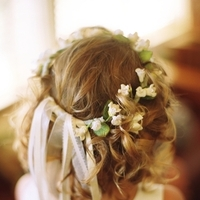 Beauty, Flowers & Decor, yellow, blue, Flowers, Flower, Girl, Wedding, Hair, Ranch