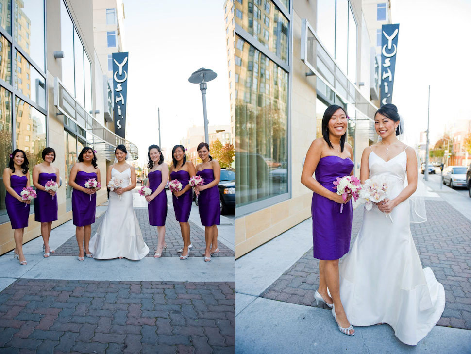 Bridesmaids, Bridesmaids Dresses, Fashion, purple, Modern, Wedding, Asian, Fusion, Modern Wedding Dresses