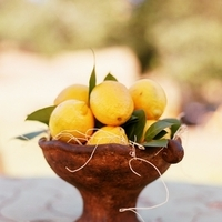 Reception, Flowers & Decor, yellow, blue, Centerpieces, Flowers, Centerpiece, Wedding, Ranch