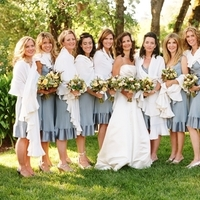 Bridesmaids, Bridesmaids Dresses, Fashion, yellow, blue, Wedding, Ranch