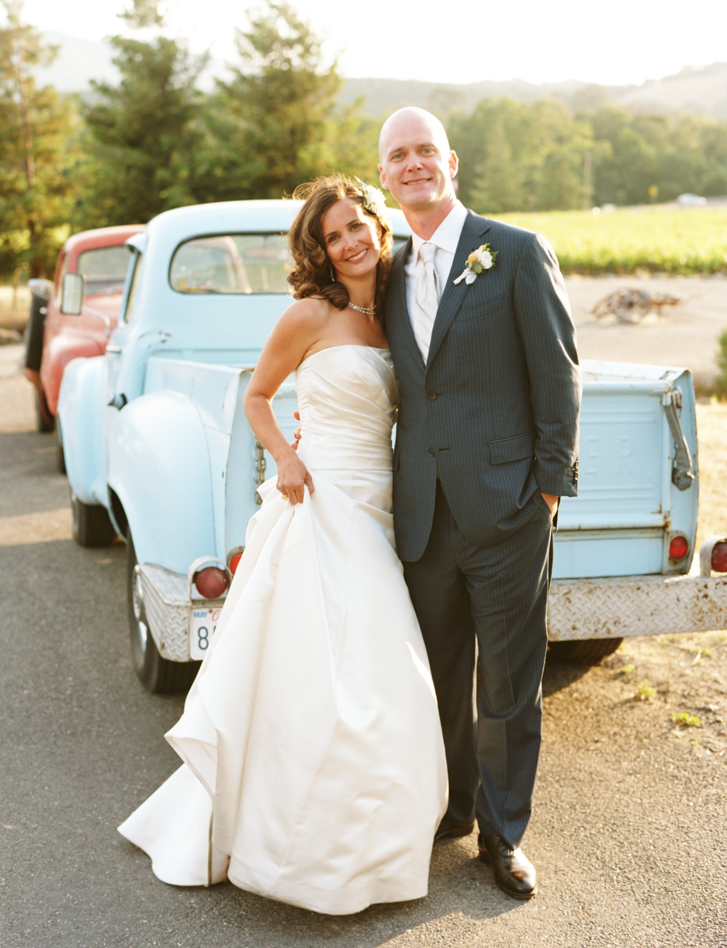 yellow, blue, Wedding, Car, Ranch