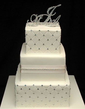 Cakes, white, cake, Monogrammed Wedding Cakes, Monogram