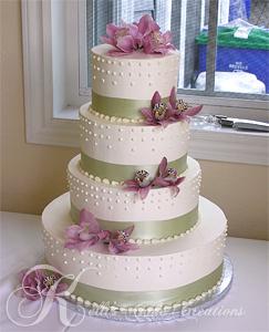 Cakes, ivory, green, cake