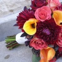 Flowers & Decor, pink, red, burgundy, Bride Bouquets, Flowers, Bouquet, Dahlia