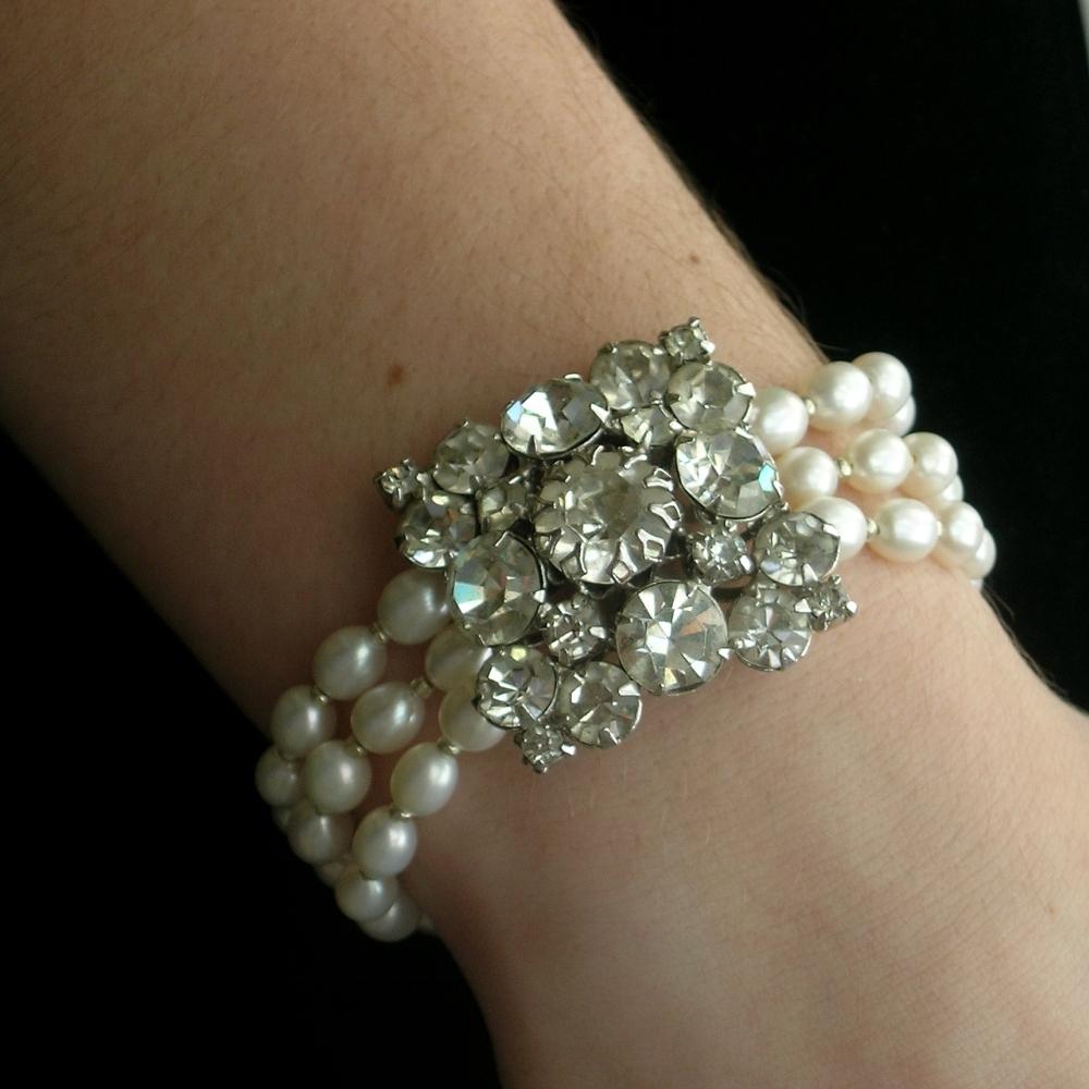 Jewelry, Bracelets, Bridal, Pearls, Bracelet, Rhinestone, Belcanto bridal designs