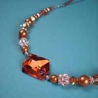 Crystal, Necklace, Swarovski, Rhinestone, Pearl, Copper, Dana saylor designs, Beads, Fireball, Cosmic