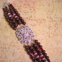Jewelry, red, burgundy, silver, Bracelets, Brooches, Bracelet, Brooch, Hollywood, Art, Glamour, Deco, Dana saylor designs, Maroon, Clasp