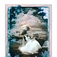 Flowers & Decor, pink, blue, Bride Bouquets, Bride, Flowers, Groom, Dip, Ocean, Bay, Deck, Halo photographic, Gelatin relief