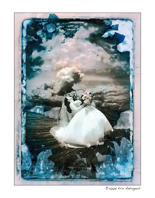 Flowers & Decor, pink, blue, Bride Bouquets, Bride, Flowers, Groom, Dip, Ocean, Bay, Deck, Halo photographic, Gelatin relief