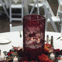 burgundy, Centerpiece, Candle, Votive, Outdoors