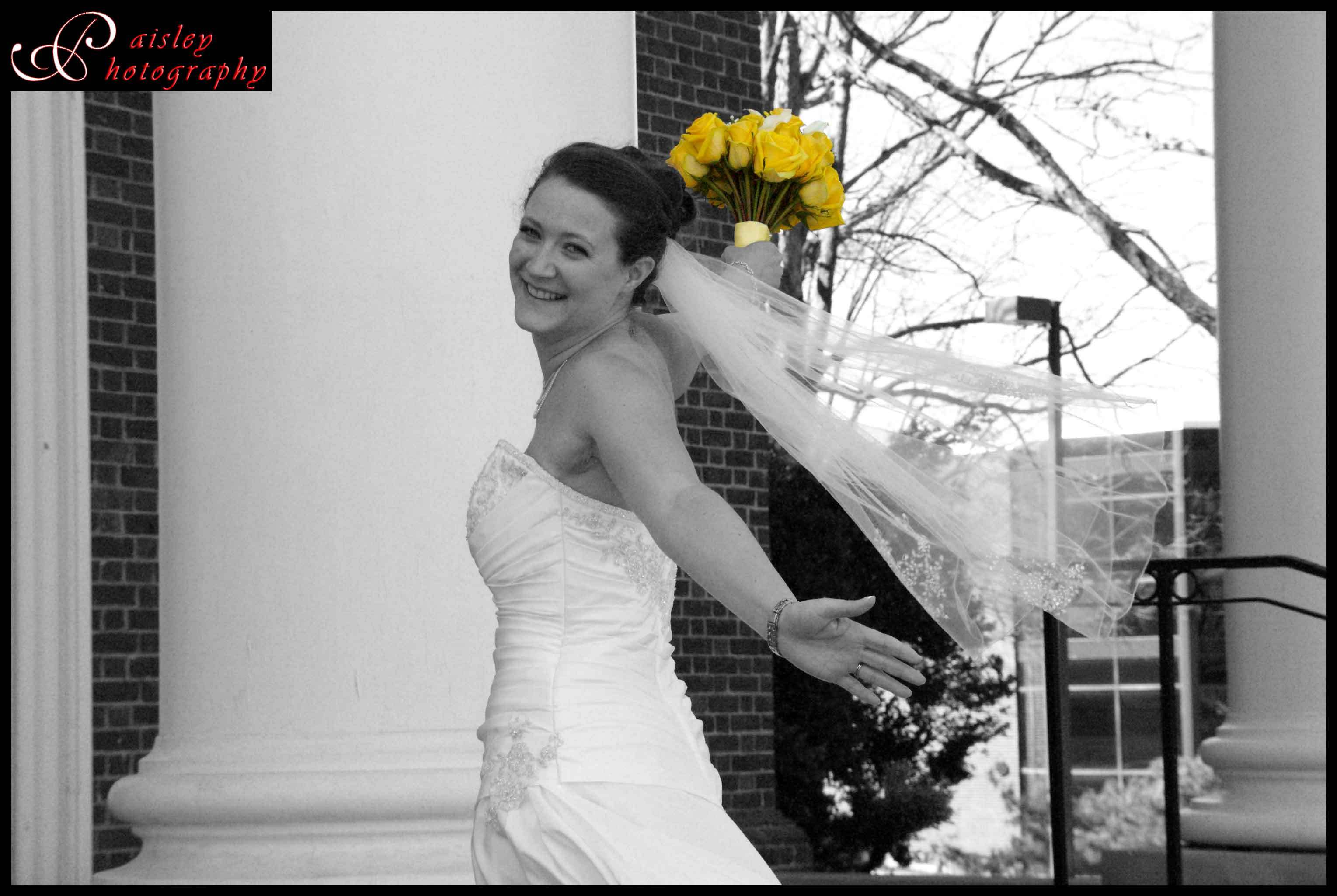 yellow, Bride, Paisley photography, Colorization