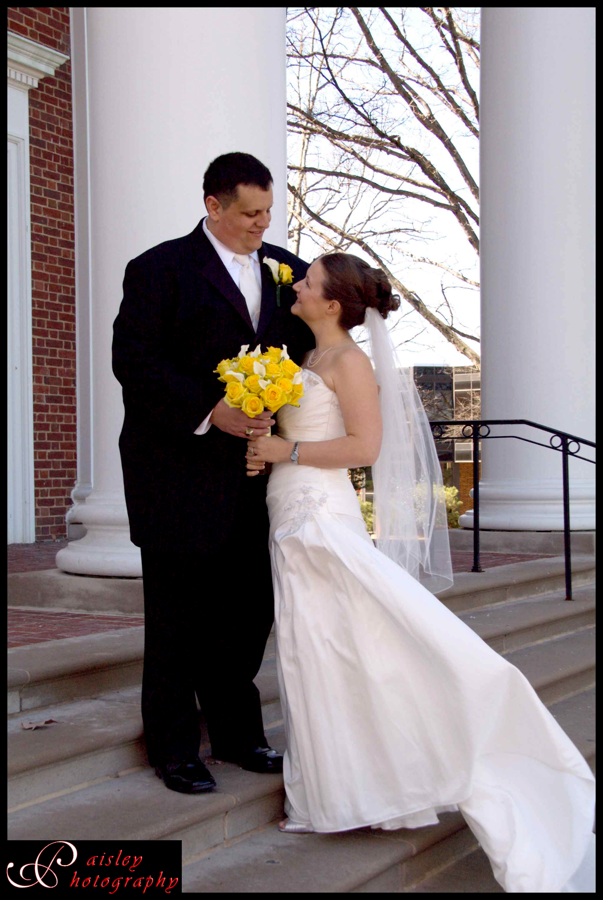 yellow, Bride, Portraits, Groom, And, Paisley photography