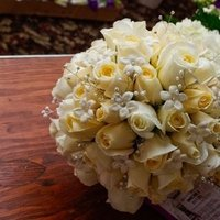 white, Bouquet, Rose