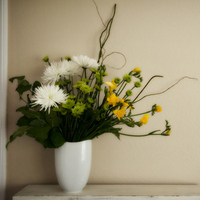 white, yellow, Centerpiece, Floral, Justs flowers, Avant, Garde