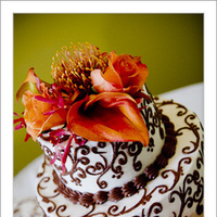 Flowers & Decor, Cakes, orange, brown, cake, Round, Flowers, Russell martin photography