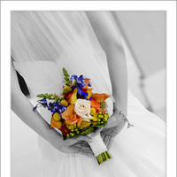 Wedding Dresses, Veils, A-line Wedding Dresses, Fashion, orange, blue, dress, Bouquet, Veil, A-line, Russell martin photography