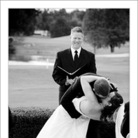 Ceremony, Flowers & Decor, Wedding Dresses, Fashion, dress, Men's Formal Wear, Bride, Outdoor, Groom, Kiss, Tuxedo, Russell martin photography