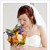 Wedding Dresses, A-line Wedding Dresses, Fashion, orange, blue, dress, Bride, Bouquet, A-line, Russell martin photography