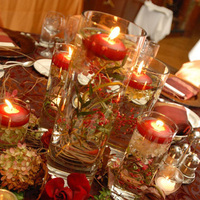 Flowers & Decor, red, Lighting, Flower, Centerpiece, Candle, Table, Floral, Setting, Vases, Give my regards to