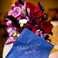Reception, Flowers & Decor, blue, Dessert, Cocktail, Napkin, Personalized, Monogrammed, Give my regards to