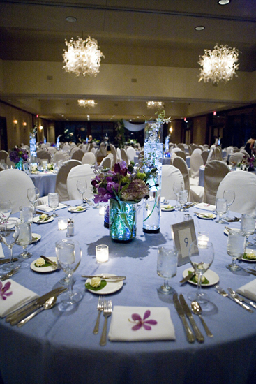 white, blue, Lighting, Centerpiece, Table, Floral, Setting, Give my regards to