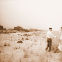Destinations, Beach, Bride, Portraits, Groom, And, Destination, Sepia, Robert london photography